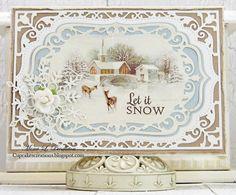 ◆ Pion Design's Blog...   let it snow | Mona's card:  Aug 3 card 1000