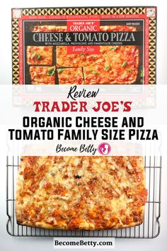 Trader Joe's Organic Cheese and Tomato Family Size Pizza are a larger sized pizza, but are they any good. Summer Snack Recipes, Summer Snacks, Easy Appetizer Recipes, Best Dinner Recipes, Easy Snacks, Pizza Recipes, Easy Recipes, Chinese Tea Eggs Recipe