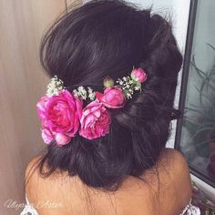 35 Gorgeous Updos for Bridesmaids: Romantic Updo with Flowers Bridesmaid Hair, Prom Hair, Bridesmaids Hairstyles, Wedding Updo, Wedding Hairstyles, Flower Hairstyles, Bridal Updo, Looks Pinterest, Romantic Updo