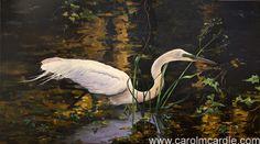 """The Elegant Hunter"" Oil on canvas 20"" x 36"""