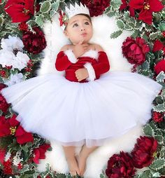 Santa Baby Nova Off the Shoulder Tutu Dress Santa Nova Dress Nova Dresses, Girls Dresses, Flower Girl Dresses, Baby Tutu Dresses, Lace Crowns, White Tutu, Santa Pictures, Santa Baby, Red Lace