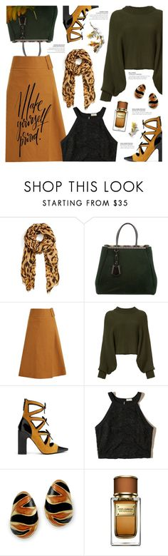 """""""Fall: every leaf is a flower"""" by xiandrina ❤ liked on Polyvore featuring Roffe Accessories, Fendi, Sea, New York, Rosetta Getty, Fabrizio Viti, Hollister Co., Kenneth Jay Lane, Dolce&Gabbana and Fall"""