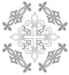 Medieval pattern coloring page.