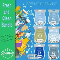 Great 6 pack for fresh, clean scents! Spring Cleaning Checklist, Scentsy Independent Consultant, Clothes Line, A Team, Cleaning Hacks, Fragrance, Facebook, Boss Babe, Heaven