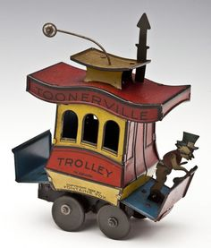 German Toonerville Trolley Wind-Up Tin Toy : Lot 106