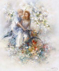 """No se pregunta el por qué Cuando se habla de amor. """"Lev Tolstòj, Anna Karenina"""". Pintura de Willem Haenraets ~ Spring"""