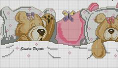 ursinhos para jogo de cama rosa❤️vanuska❤️