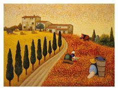 """Village Landscape""-Lowell Herrero"