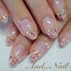 spring tweed french nail