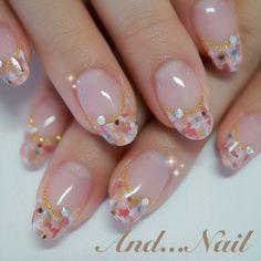 spring tweed french nail