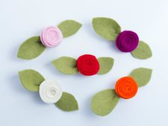 Felt hair accessories Felt hair clips floral by FreshAsADaisyGifts
