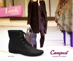 Inverno com estilo! Uma bota sempre deixa o visual mais despojado e se for um modelo Campesí, o bem-estar é garantido.