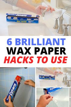 Diy Home Cleaning, Cleaning Hacks, Cleaning Mold, Daily Cleaning, 1000 Life Hacks, Useful Life Hacks, Amazing Life Hacks, Cleaners Homemade, Wax Paper