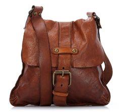 Campomaggi Lavata Shoulder Bag Leather cognac 28 cm - C1369VL-1702 - Designer Bags Shop - wardow.com