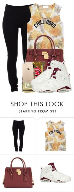 """""""I HOPE ONE DAY, YOU CHOKE ON THE SH*T YOU TALK"""" by xmonishax ❤ liked on Polyvore featuring Helmut Lang, Michael Kors, NIKE, women's clothing, women's fashion, women, female, woman, misses and juniors"""