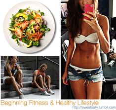 Beginning a Healthy Lifestyle and Intro to ExercisingSome info from muffintop-less I know that being new to eating healthy and working out can be so overwhelming.