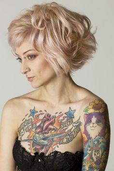 Lisa Frank tattoos: kittens & bunnies.