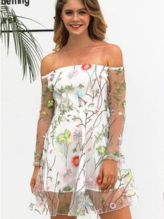 77d423e681 Latest Women Dresses Trends | Cheap Fashion Dresses for Women On Sale.  White Floral Print ...