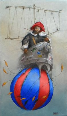 Catherine Chauloux   OIL | Pirate De L'air  (The Air Pirate)