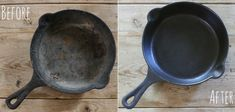 5 No-Fail Steps to Restoring and Seasoning Rusty Cast Iron Skillets | eHow  For my comal!!