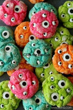 CLICK IMAGE FOR RECIPE Delicious Gooey Monster Cookieshttp://pinterest.com/pin/191543790375972345/