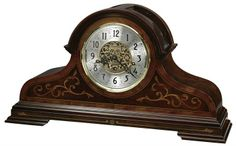 Howard Miller Bradley Key Wound Mantel Clock with Key-wound, Triple-chime Movement