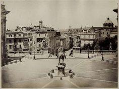 1869 circa Ninci Giuseppe (attr.) Campidoglio, vista panoramica verso la città.