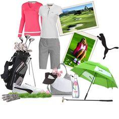 """Puma Ladies golf"" by velvetsnake on Polyvore"