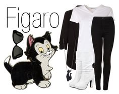 """""""Figaro~ DisneyBound"""" by basic-disney ❤ liked on Polyvore featuring Disney, T By Alexander Wang, Topshop and Linda Farrow"""