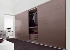 Sliding doors for the closet.. awesome.