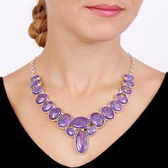 Purple Mohave Turquoise Stunning Necklace === Now only: $1005 ===