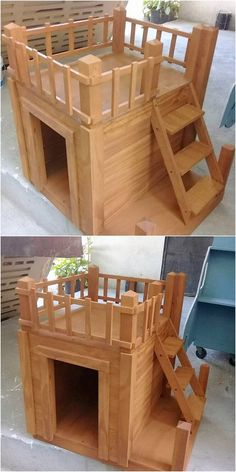 This is quite unique looking wood pallet amazing creation! This creation is all designed out in the shape style of the dog house for your pet dog. It is simple in terms of designing and light in weight which you can easily carry it along with you from one place to another.