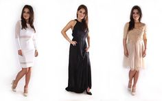 Eleganckie sukienki na wyjątkowe okazje #mokujin #clothing #fashion #moda #black #white #nude #dress #party #trends #dressparty