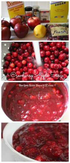 Easy Cranberry AppleSauce Recipe