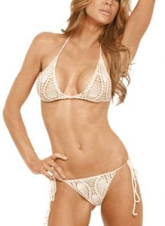 Sexy Crochet Bikini as Featured in Marie Claire Magazine,  Swimsuit, Sexy Crochet Bikini as Featured in, Chic