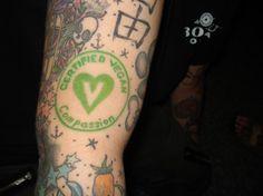 "Certified Vegan Tattoo based off of Vegan Action's ""Certified Vegan"" logo (vegan.org)"