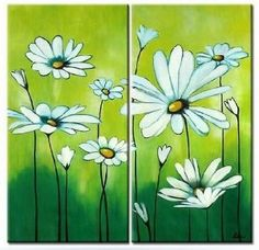 Amazon.com - Spring Flower Painting 100% Hand Painted Abstract Oil ...