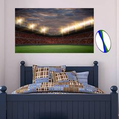 Official Licensed Football & Entertainment Wall Stickers - Rugby - The Beautiful Game Football Bedroom, Football Wall, Nursery Room, Kids Bedroom, Bedroom Furniture, Bedroom Decor, Bedroom Ideas, Entertainment Wall, Sports Wall