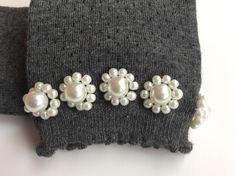 Pearl embellished socks - (etsy.com-JolieCie)