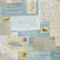 Postcards Eau De Nil oilcloth
