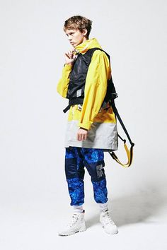 """POLIQUANT's Offers Up Meticulously Crafted Modular Layers: Deconstruction inspired by Ray Charles' hit classic """"Mess Around. Retro Sportswear, Lounge Underwear, Tactical Vest, Mens Outfitters, Cropped Pants, Windbreaker, Bomber Jacket, Winter Jackets, Fashion Outfits"""