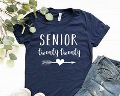 Shirts and Apparel for Teachers Moms and Family by coloursandcotton - Senior Shirts - Ideas of Senior Shirts - Senior 2020 Shirt Senior Shirt Senior 2020 shirts for girls Senior TShirt Graduation Shirt Senior 2020 Tshirts 2020 Graduate Senior Overalls, Senior Sweatshirts, Senior Class Shirts, Graduation Shirts, Graduation Ideas, Senior Year Of High School, Senior Gifts, Cricut, Spirit Shirts