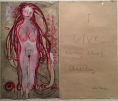 "Given the outpouring of love and hatred over the past few days, Louise Bourgeois's ""I Give Everything Away"" series (2010) feels more resonant than ever. An exhibition of 'Cells' is now on display at the Louisiana Museum of Modern Art in Denmark. . . . . #painting #message #art #body #nude #woman #women #womanhood #solidarity #pink #red #feminism #female #art #paint #painter #giving #2010 #denmark #louisebourgeois #bodypolitics #gender #relationship #relationships #kindness"