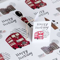 London Gift Wrap by Helena Tyce Designs, the perfect gift for Explore more unique gifts in our curated marketplace. Birthday For Him, Boy Birthday, Happy Birthday, London Party, Party Themes, Party Ideas, Wedding Invitations, Invites, Are You Happy