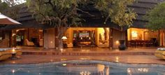 Tuningi is a stunning game lodge set in a valley in western section of Madikwe. It accommodates 16 people in double volume, free standing thatched rooms that all have their own private decks as well as beautiful interiors.