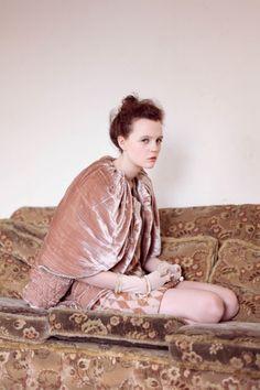 dusty pink velvet cape, get into my closet!