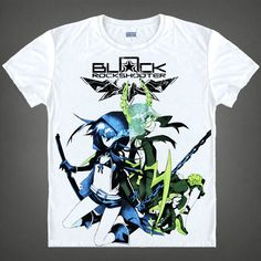 Black Rock Shooter Mato Kuroi New Summer Animal T Shirt 3D Printed Men Characters Anime Short Sleeve T-shirt Tops Tees Camisetas //Price: $US $18.67 & FREE Shipping //     #hoodie