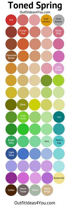 Toned Spring Color Palette (Soft Spring)