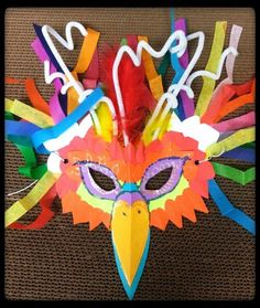 Make masks! Easy way to use up a bunch of odds & ends from your craft supply closet.: