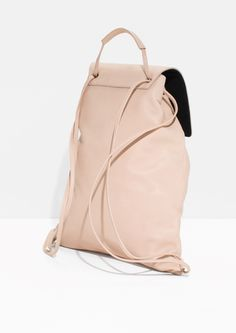 & Other Stories | Flap Leather Backpack